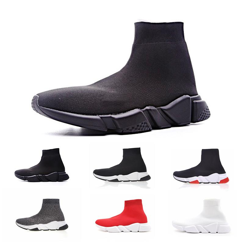 dfa8a6ae3 Compre 2019 Diseñador Hombres Mujeres Speed Trainer Fashion Brand ...