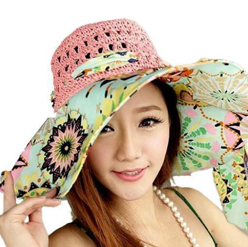 70fab05e811f8 Stylish Summer Floppy Anti UV Sun Hats For Women Foldable Floppy Sun Cap  Wide Brim Hat Beach Headwear For Lady Vintage Hats Mens Caps From Duodeis