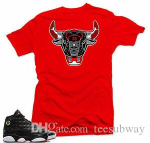 Chemise assortie aux baskets Bull 13.Red Air de Funny Funny3 Playoffs 2017