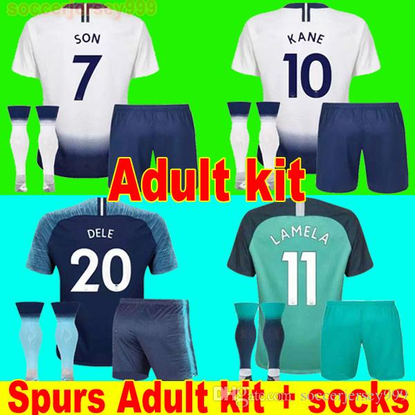 quality design c58b6 87fb9 Thailand KANE soccer jersey Adult kit sets 2019 LAMELA ERIKSEN DELE SON  SPURS jerseys 18 19 football shirt uniforms CAMISETAS away third