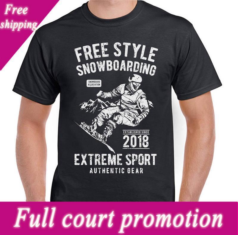 df010a1ad Compre Camiseta De Impresión Para Hombre Freestyle Snowboarding Hombres  Cuello Redondo Manga Corta Mejor Amigo Camisetas A $12.99 Del Yubin03 |  DHgate.Com