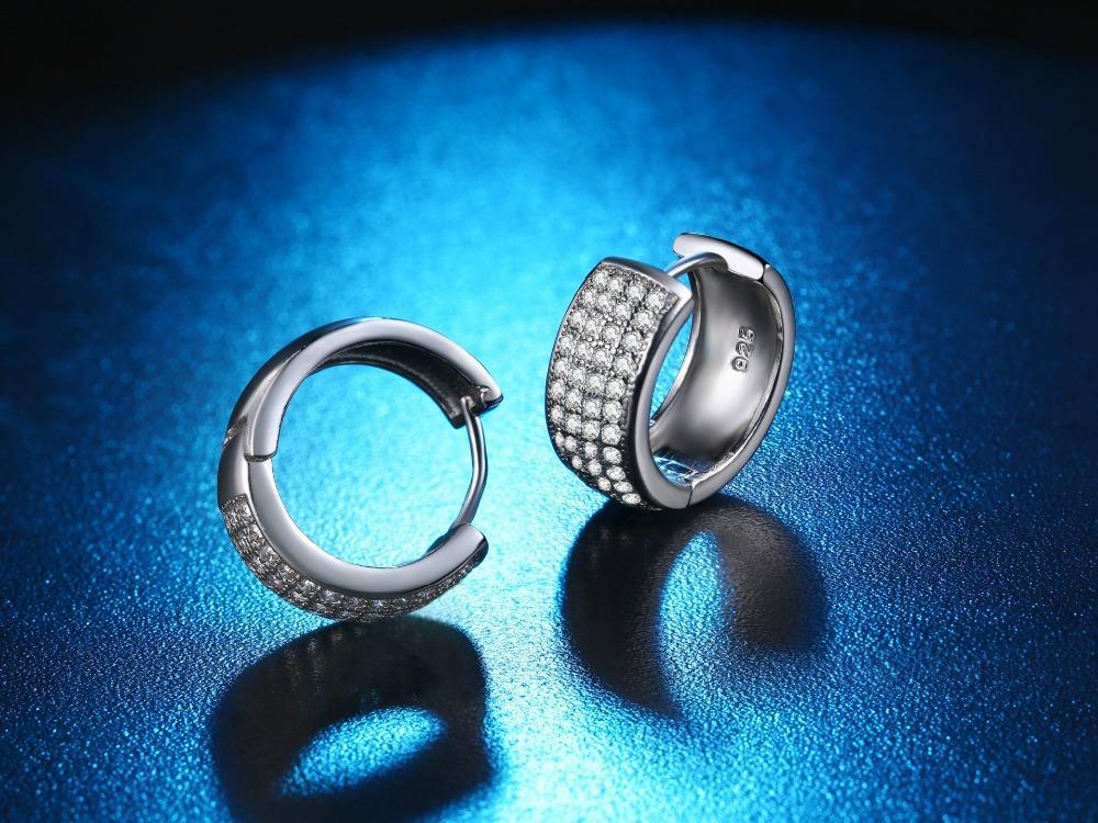 Orecchini a stella doppia CZ gioielli donna pendiente plata 925 orecchini a bottone in argento ed91 boucle d'oreille brincos