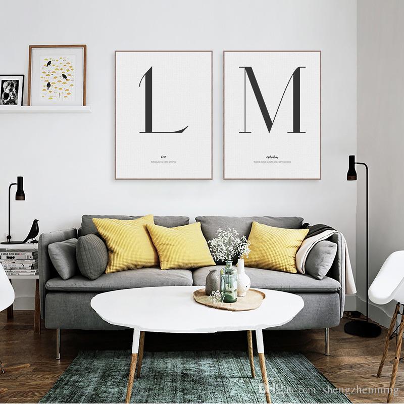 2020753176 Acquista Bianco E Nero Minimalista Tipografia Letter Quotes Poster Stampe  Nordic Soggiorno Wall Art Immagini Home Deco Canvas Painting A $6.27 Dal ...
