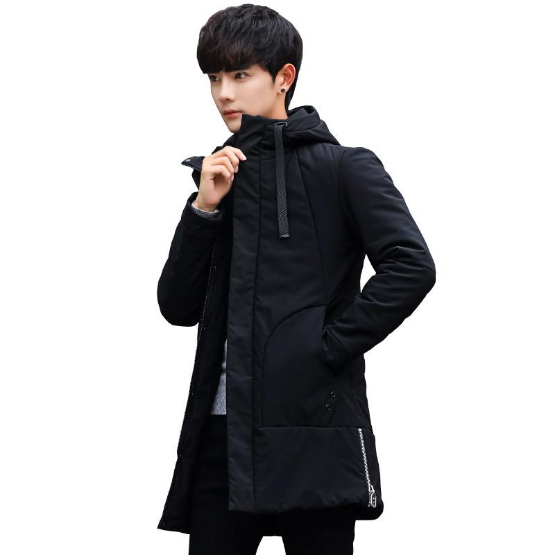 Men's Cotton-padded Clothes Winter Men's New Style Cotton-padded Clothes Teenager Versatile Slim Fit Handsome Jacket Solid Color