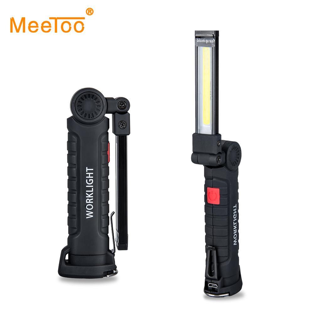 Portable Spotlight Cob Foldable Searchlight 5 Modes Lampe Led Work