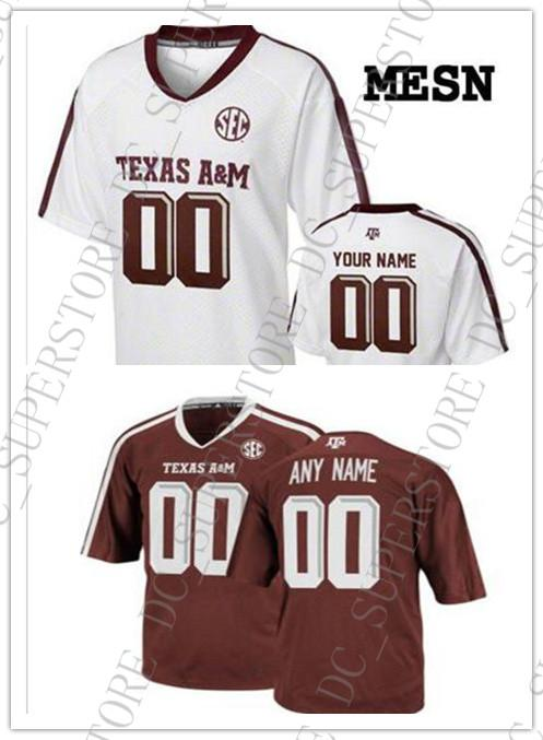 new arrival e3f81 7c646 Cheap custom Texas A&M Aggies Football jersey White Maroon Stitched  Customized Any name number Jersey MEN WOMEN YOUTH XS-5XL