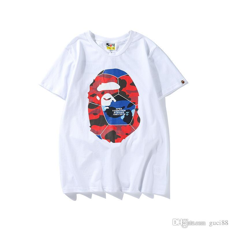 4a973d18 2018 New Mens Designer T Shirts Ape World Cup Football Pattern Printed Off  A Bathing Aape Ape Men'S Casual Short Sleeved T Shirt White Humor T Shirt  Funny ...