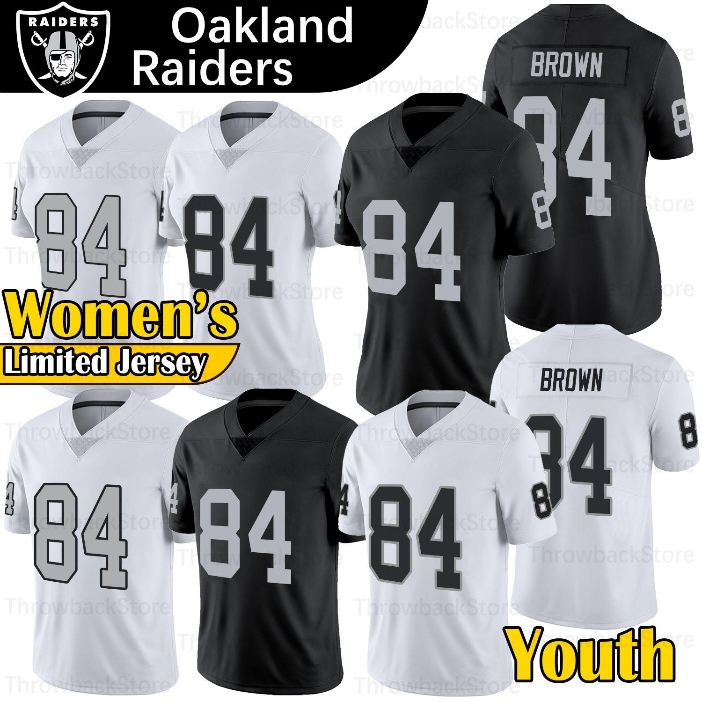 50e6b76f2c2 2019 Antonio Brown Raiders Jersey Men Youth Women 2019 New Oakland Color  Rush BLack WHITE 84 Brown Raiders Football Jerseys From Throwbackstore