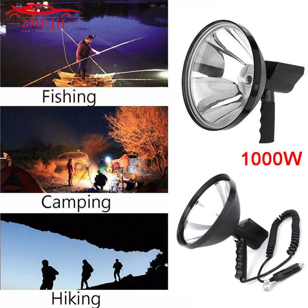 9 inch 1000W 12V HID Handheld light Portable Handheld light HID Xenon Lamp Outdoor Camping Hunting Fishing Spot Lamp Spotlight