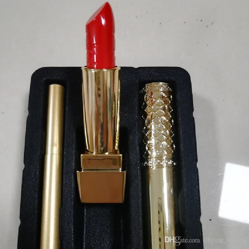 2019 Hot Sale Good Quality Famous Luxury Brand Makeup Set Kollection Lipstick Mascara Eyeliner Cosmetic 3 in 1 Kit Free Shipping