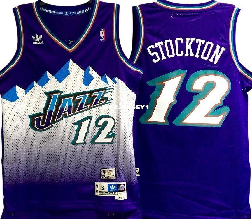 cozy fresh 00a12 03504 JOHN STOCKTON #12 Sewn high quality Retro Vintage Top JERSEY Mens Vest Size  XS-6XL Stitched basketball Jerseys Ncaa