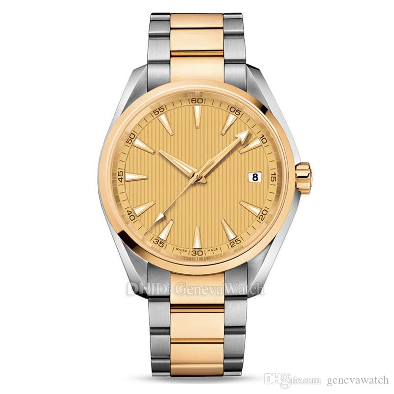Mens Watches Montre De Luxe Luxury Watch Japan automatic watch Gold 316L Stainless Steel Case Bracelet 150M Waterproof Reloj De Lujo