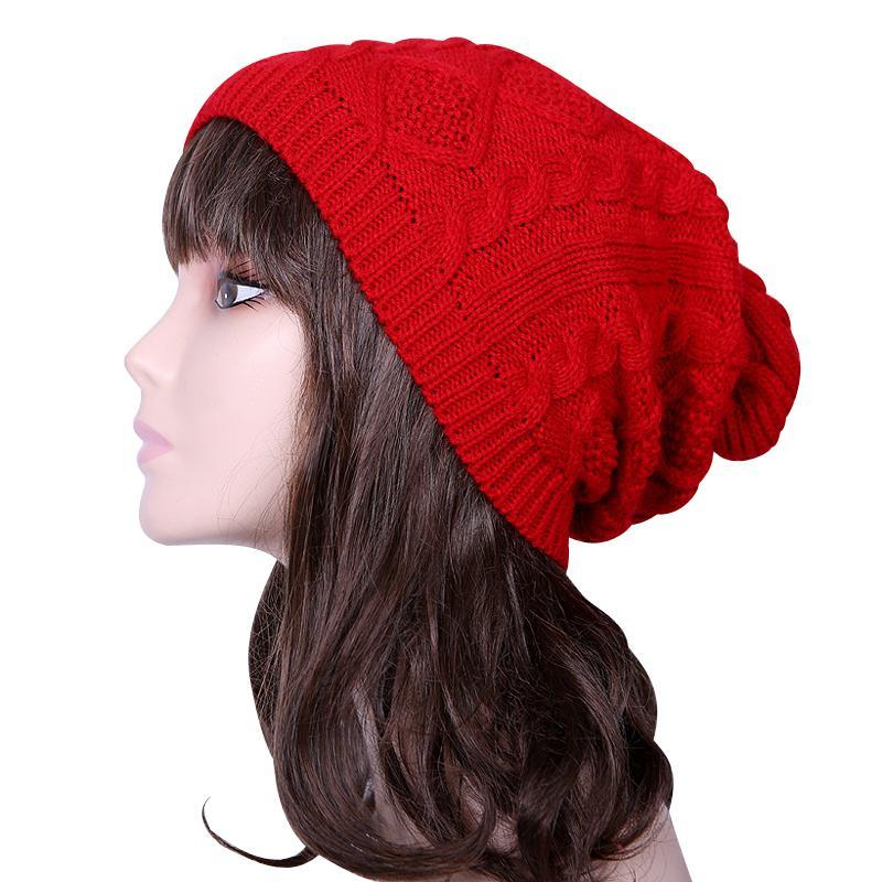 Compre 250 UNIDS   LOTE Venta Caliente Sombrero De Invierno Para Mujeres  Moda Patrón De Torsión Crochet Sombreros De Punto Gorro Beanie Mujer Gorros  A ... 5c32e80143b