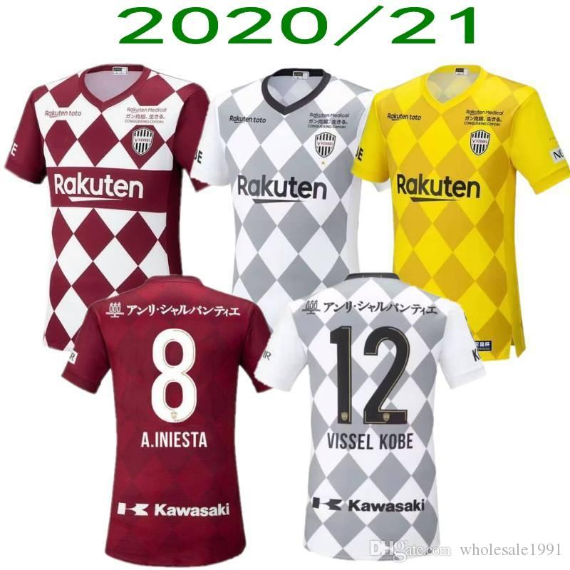 J League Football Shirts: 2020 2020/2021 Vissel Soccer Jerseys J1 League #8 A