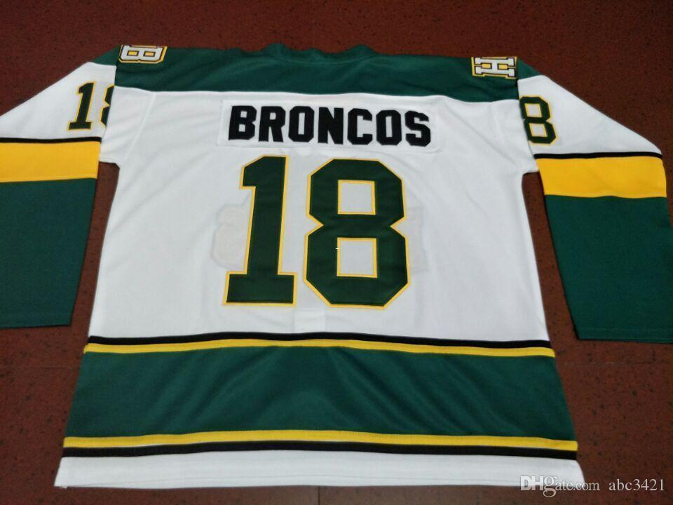 free shipping Men #18 Humboldt Broncos HOCKEY JERSEY or custom any name or number retro Jersey