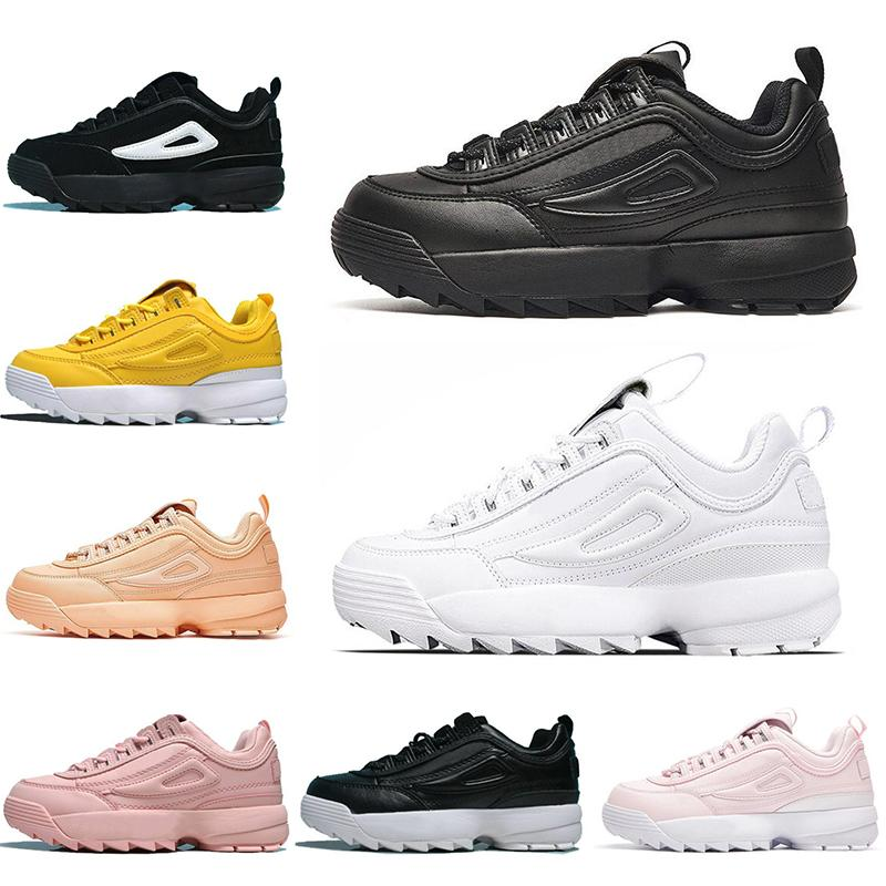 2020 Designer ClassicFILA Outdoor Triple White Black Men Women Casual Shoes Lace up Fashion Sports Sneakers Mens Trainers Runner