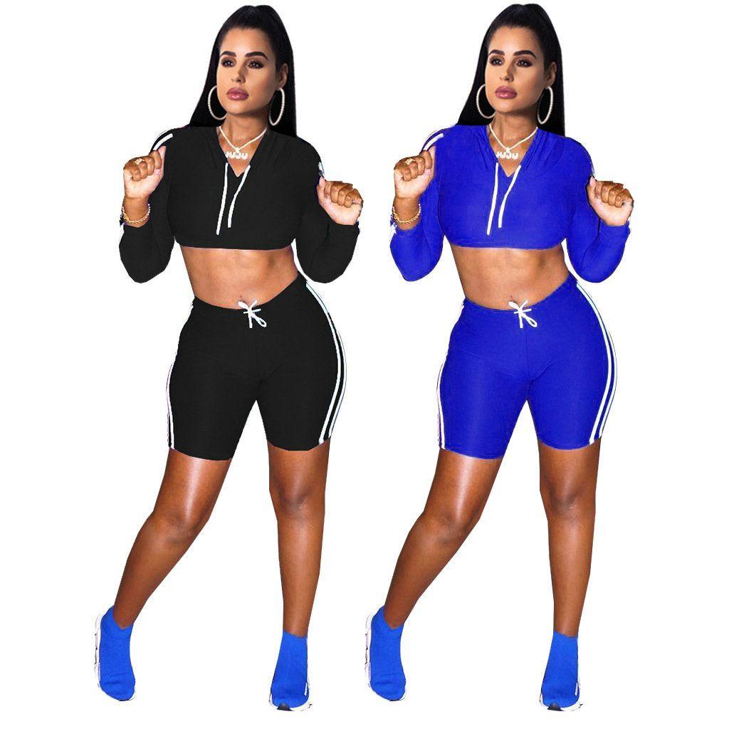 8dab4f2f8 Sudaderas con capucha atractivas pantalón para mujer de dos piezas Conjunto  Chándal de manga larga Caliente Nueva moda Casual Sportsuit Realizar ...