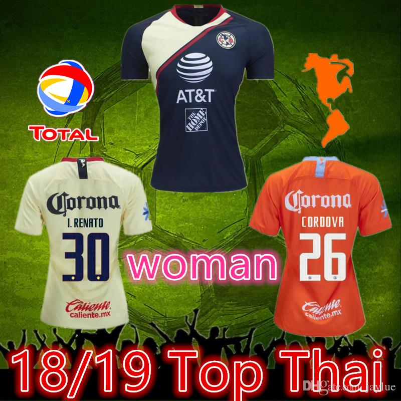 74158e410df 2019 Thai 2019 Club America Jersey Woman Soccer Home Yellow 18 19 Away 3rd  Mexico Club Third Football Shirt P.AGUILAR O.PERALTA MATHEUS From Jaylue,  ...