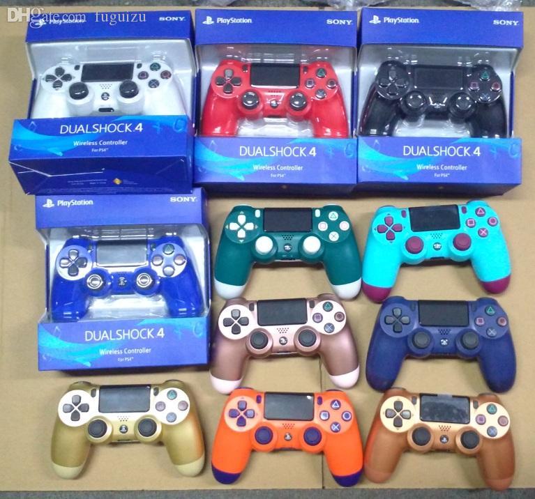 18 cores PS4 controlador para PS4 Vibration Joystick Gamepad sem fio Game Controller para Sony Play Station com caixa de varejo