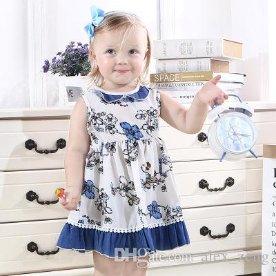 ff550d1bf0f5 2019 Girls Dress Flowers Print Tassels Patchwork Dresses INS Summer Sweet  Kids Vintage Vest Dress Baby Clothing From Alex_zeng, $5.83 | DHgate.Com