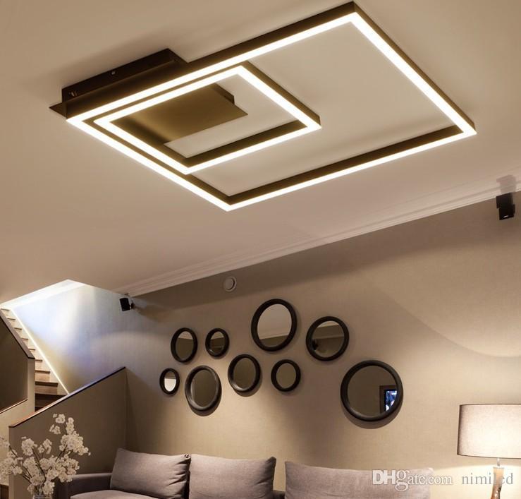 Decoration Led Luminaire Moderne Salon Led Plafonnier Avec Telecommande Gradation Lampe De Plafond Pour Chambre Llfa