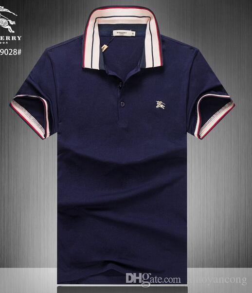 914d9b4fb54 Compre Camiseta Rayada Casual De Los Hombres 2019 Nueva Solapa De Moda POLO  Camisa De Diseñador De Lujo Marca Bordado Impresión Algodón Camiseta De  Alta ...