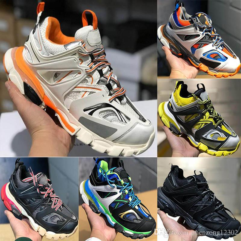 Luxury Designer Release 3.0 Tess S Paris Track Men Gomma Maille Black White Women Triple S Clunky Sneaker Casual Shoes Size 6-12