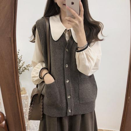 e8ed54ff3e5e1b 2019 2018 Autumn Winter Women Vest Sweater Knitted Cardigan Casual Jumper  Fashion V Neck Warm Female Sweaters From Missher