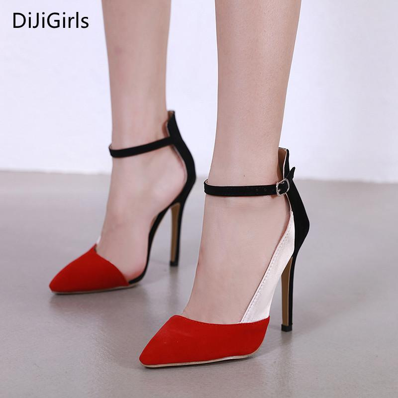 06aaf3ca743 Dress Dijigirls New Style Women Pumps 2019 Spring Splicing Color Pointed  High Heels Ladies Party Heels Wedding Bridal Shoes Red Pumps Mens Boots Shoe  From ...