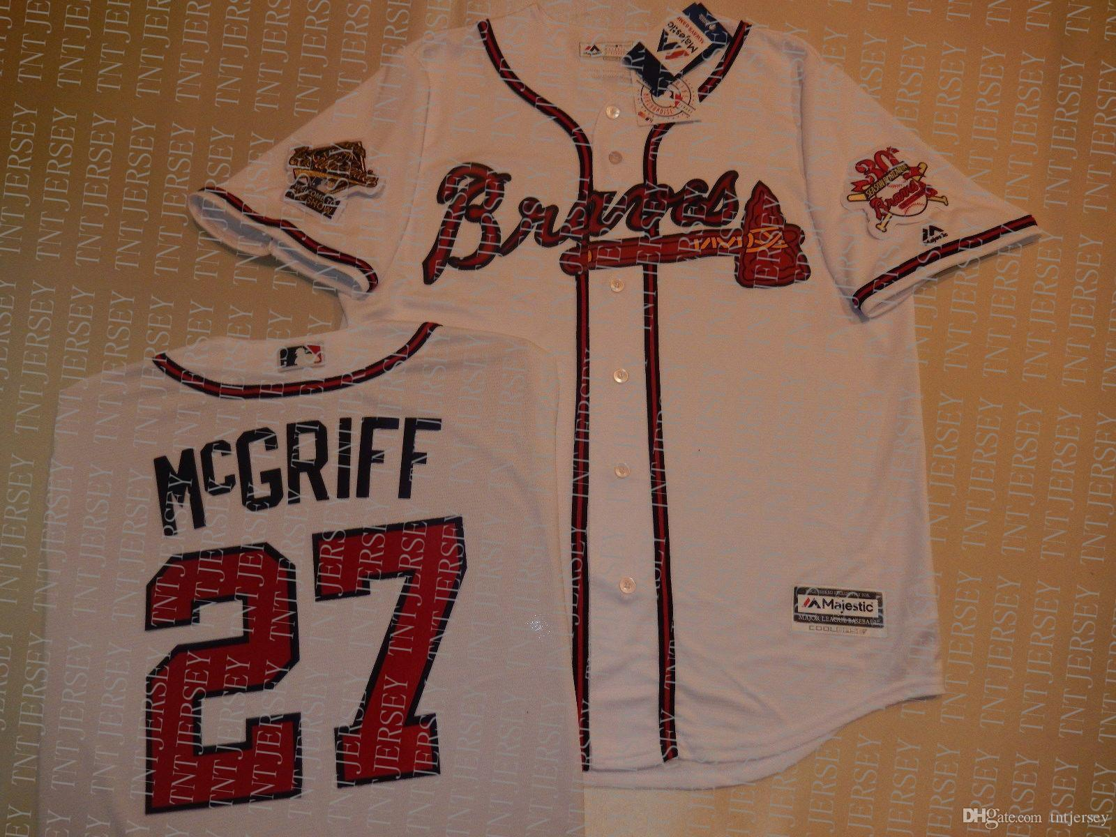 100% embroidery custom FRED McGRIFF World Jerseys New Stitch customize any number name MEN Jerseys XS-5XL NCAA JERSEY