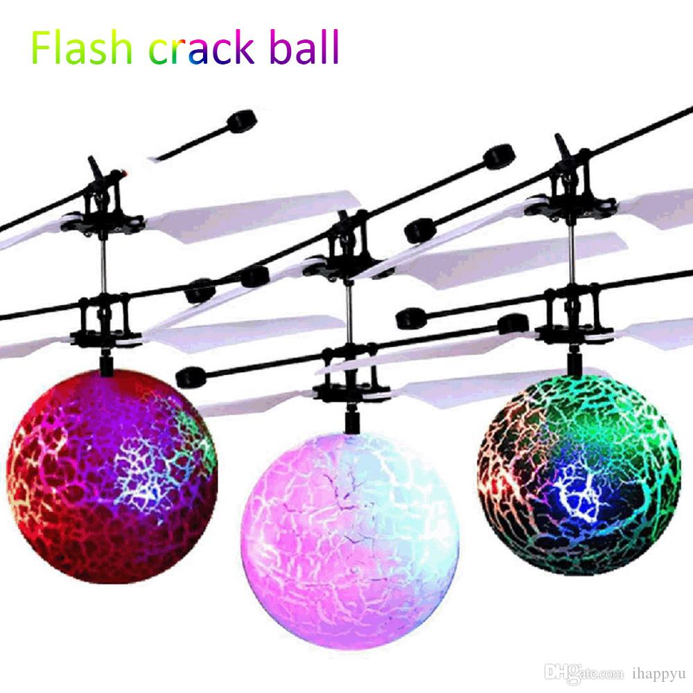 LED Magic Flying Ball Aircraft Helicopter Toy Colorful Stage Lamp Infrared Induction LED Flying Toys for Kids Children Flying Toy