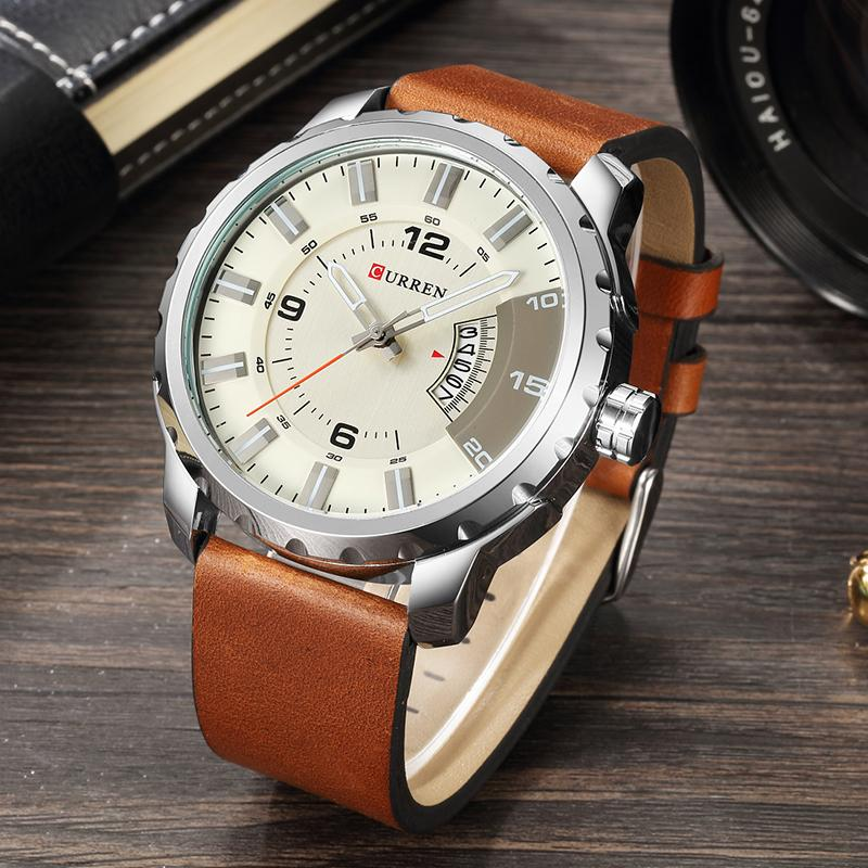Big Dial Sports Style Mens Watches Top Brand Luxury Fashion Sports Wristwatch Clock Men Quartz Watch Relogios Curren Watch 8245