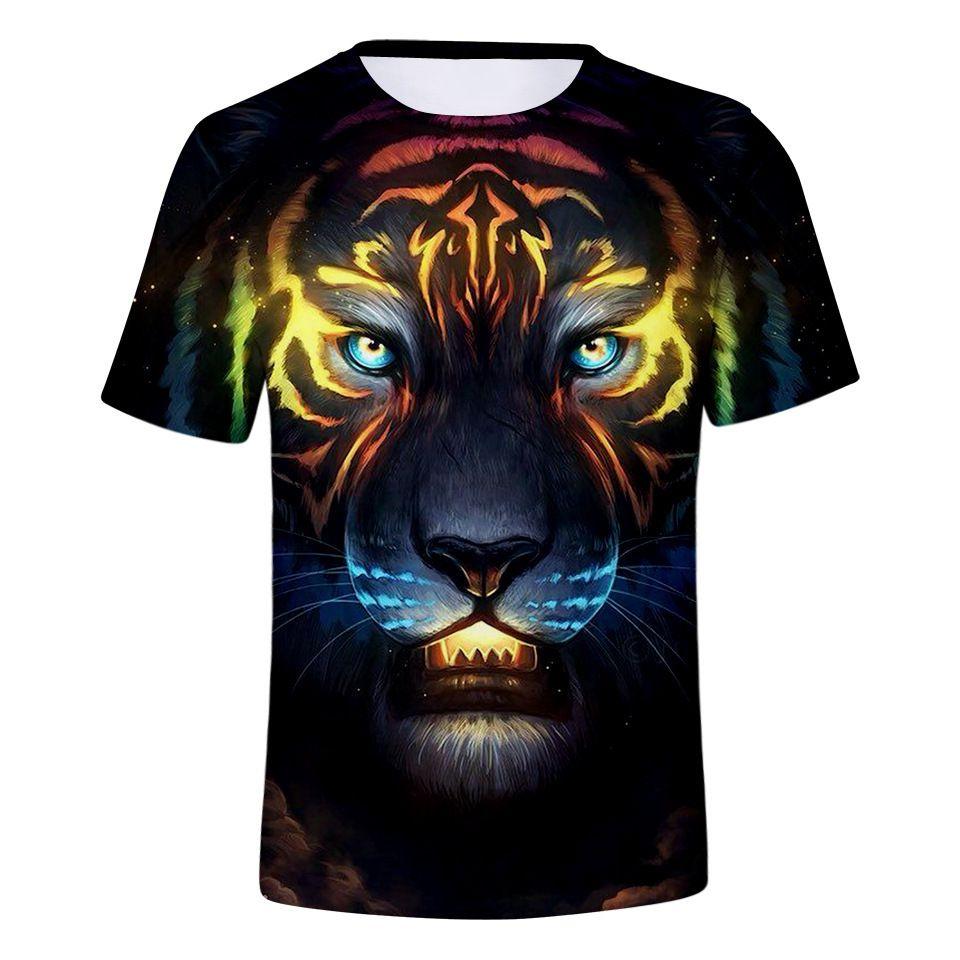 e12c2ca14237a Купить Оптом 2019 Горячие Продажи Бренда 3d Футболки Tiger Animal ...