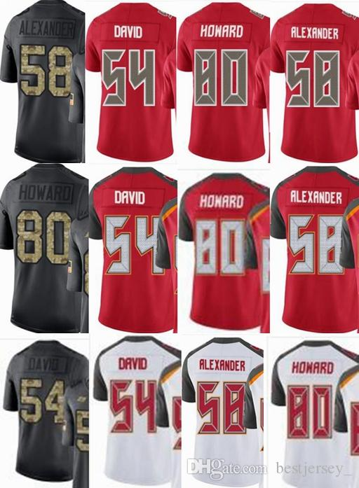 Cheap Tampa Bay Buccaneers Custom Men youth women  54 Lavonte David 58 Kwon  Alexander 80 OJ Howard Vapor Untouchable Limited rush elite Jerseys 5f72f68ce