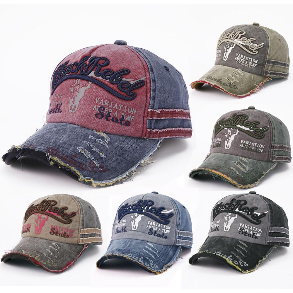 complet dans les spécifications nouveaux styles vaste gamme de 2019 Baseball Cap Women Hats For Men Trucker Brand Snapback Caps Male  Vintage Embroidery Casquette Bone Black Dad Hat Caps 3.95