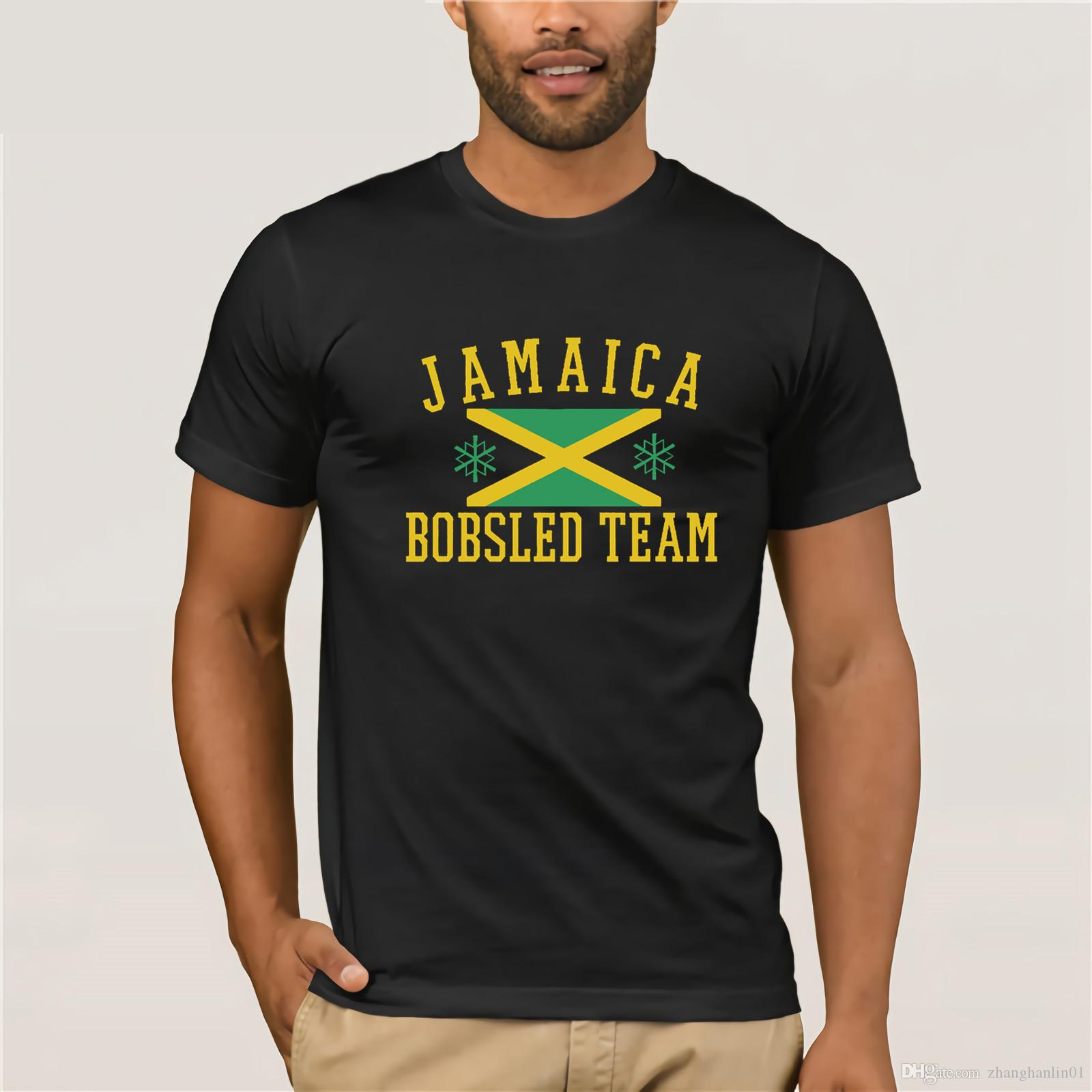a0ff0c4327b 2019 Latest Men T Shirt Fashion Short Sleeve Hipster Tee Jamaican Flag  Bobsled Team Boy'S Black Short Sleeve Game Day T Shirt Unique T Shirts For  Sale ...