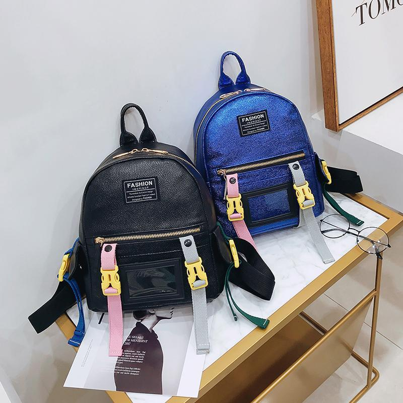 2fad8080c165 Simple Style Backpack Women PU Leather Backpacks For Teenage Girls School  Bags Fashion Vintage Solid Black Shoulder Bag Dog Backpack Backpacks For  Women ...