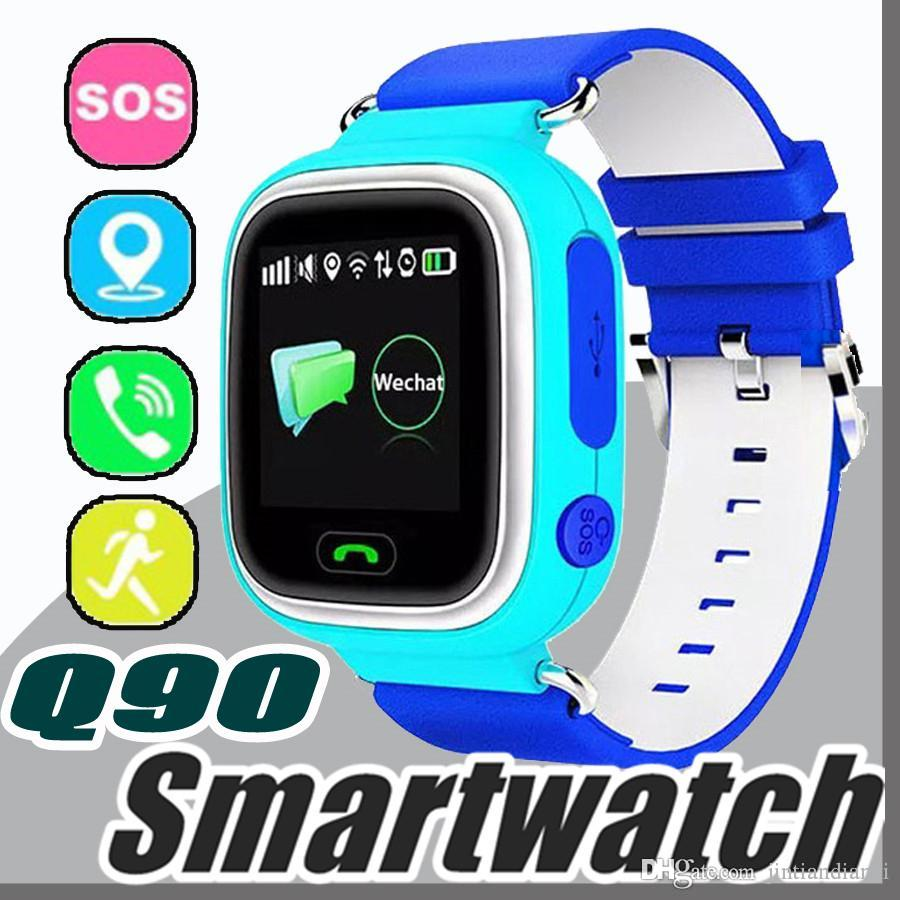 2017 Q90 Bluetooth Smartwatch con GPS WiFi LBS per iPhone IOS Android Smart Phone Wear Orologio Dispositivo indossabile Smart Watch 3 colori S-BS