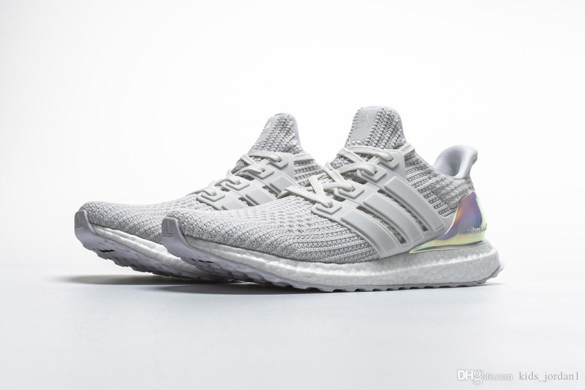 7d422df69 2018 New Best Quality Ultra Boost 4.0 Shoes Ultraboost Athletic Sneaker  Iridescent White Sports Shoes For Men Women Youth Sneakers Shoes Kids From  ...
