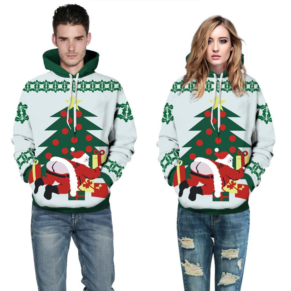 662a63da79a1 2019 Christmas Hoodie Men Women 2017 Funny Santa Claus Print Mens Hoodies  Sweatshirts Harajuku Hooded Pullover Hip Hop Men Sweatshirt From Bigseaa