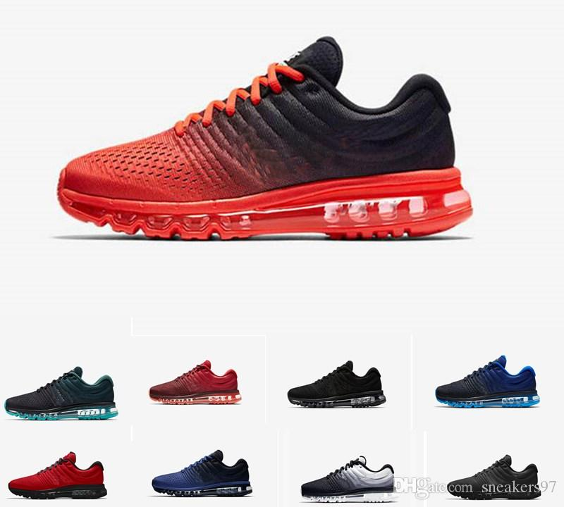 the latest 2ef8c ebe0a Acquista 2017 Top Quality Classic Nike Air Max Airmax AIRMAX 2017 Uomo Donna  Outdoor Scarpe Nero Bianco Trainer Air Cushion Outdoor Shoe Superficie  Maxes ...