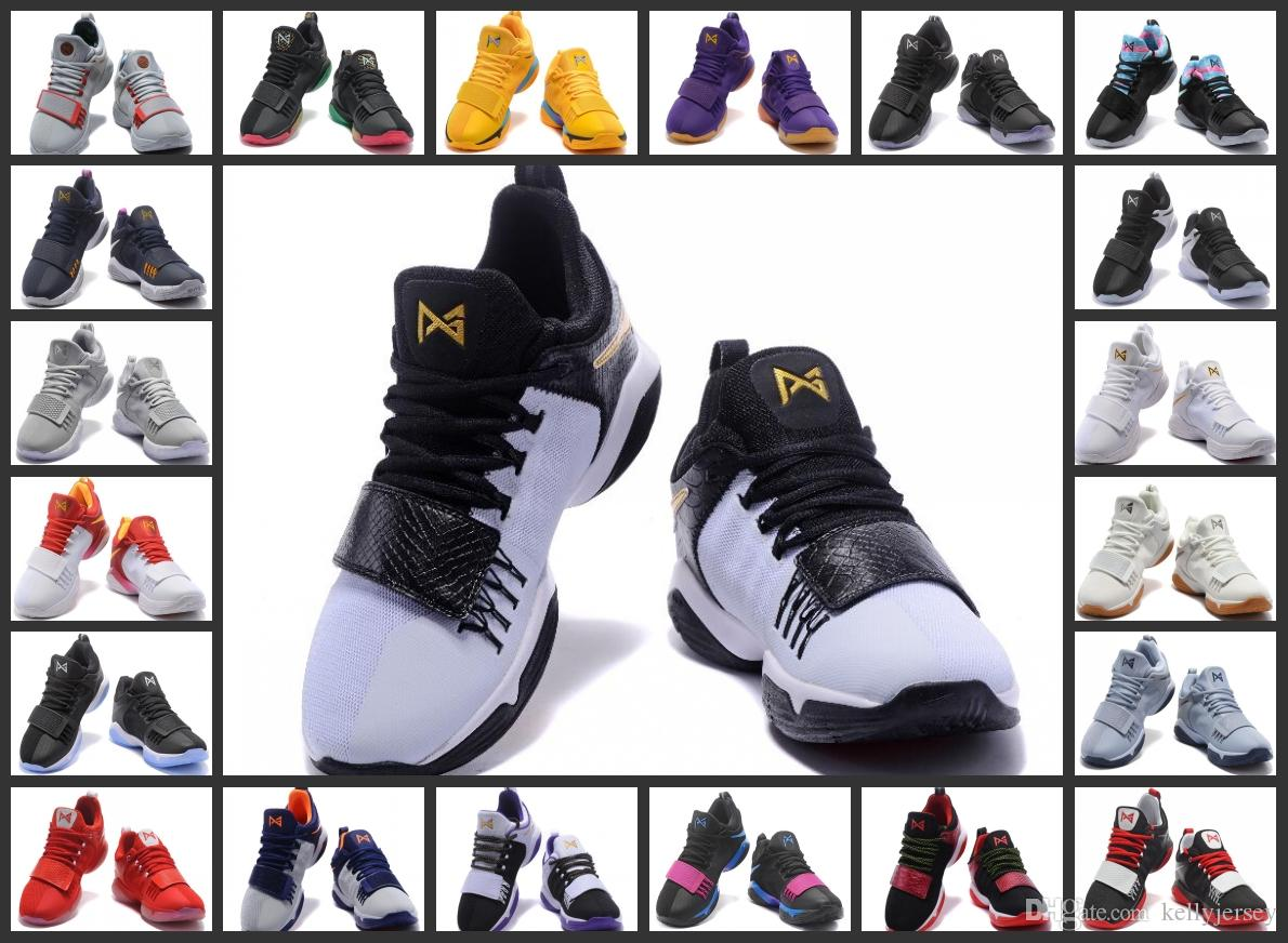 best service 1c748 f4cd2 New Top Quality Paul George PG1 I Men s Basketball Shoes PG 1 Ivory Zoom  Low Cut Ferocity Shining Trainer Sports Shoes Basketball Shoes