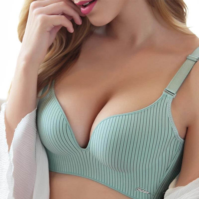 59442ab9ae 2019 2019 High End Brand Romantic Temptation Bra Set Women Fashion Stripes Underwear  Set Push Up Seamless Lade Bra And Panties Set D19011604 From Lizhang02