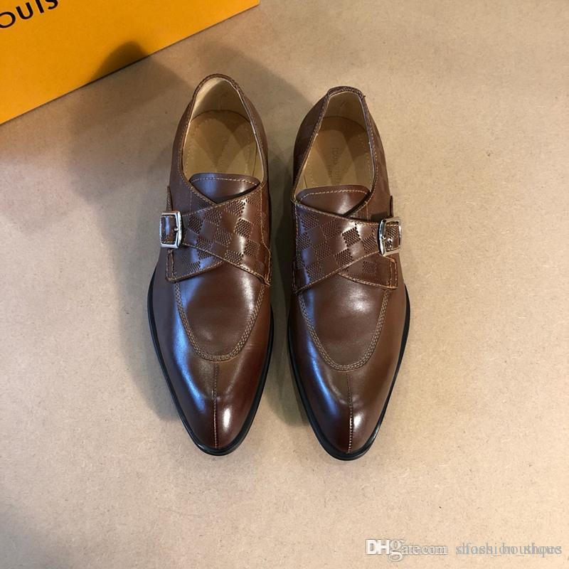 Best Qualit 2019 British latest luxury crime shoes leather brand men's  office business shoes size: 38-45