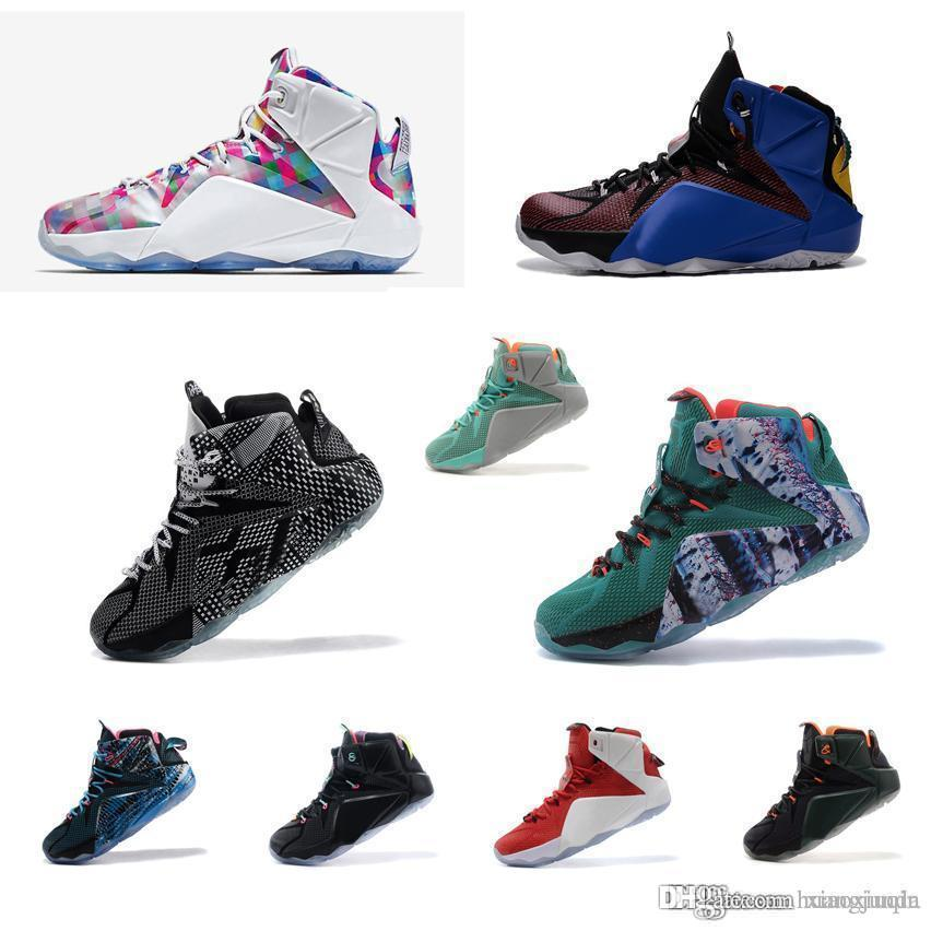 best sneakers 19c70 01622 2019 What The Lebron 12 Basketball Shoes Men MVP Championship Christmas BHM  Black Red Stars White Instinct Prism Easter Sneakers Tennis With Box From  ...