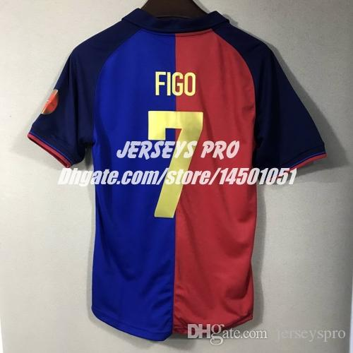 buy popular d4639 a1641 Retro Soccer jerseys Maillot de Foot Luis Figo 1999 2000 Camp nou 100 Years  anniversary Centenary edition Football shirts Camiseta de futbol