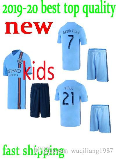 new product f0693 dc4ea kids kit NEW YORK CITY FC soccer jersey 2019 2020 nycfc home blue 19 20  MITRITA MATARRITA MEDINA MORALEZ ring child boys set football shirts
