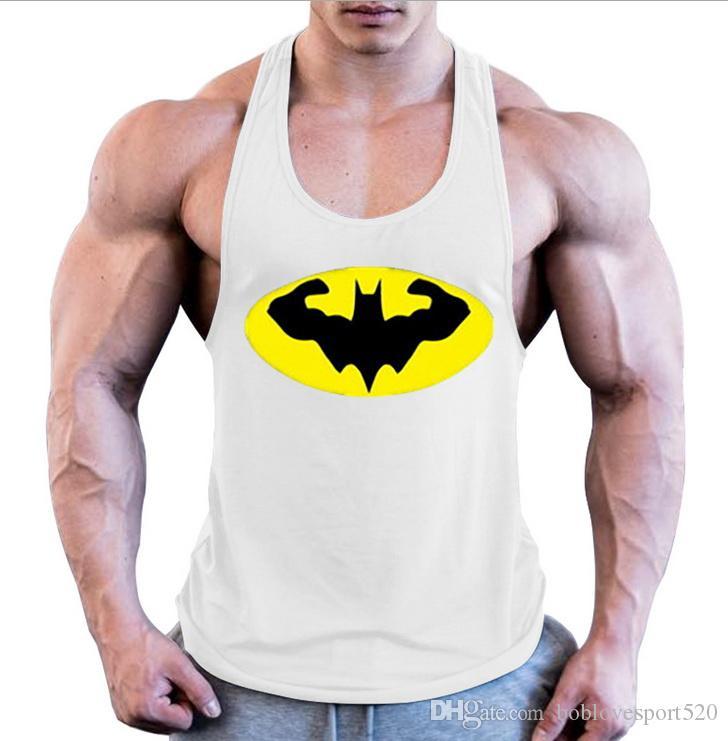 694019d185668 2019 Batman Gyms Tank Top Men Sleeveless Bodybuilding Fitness ...