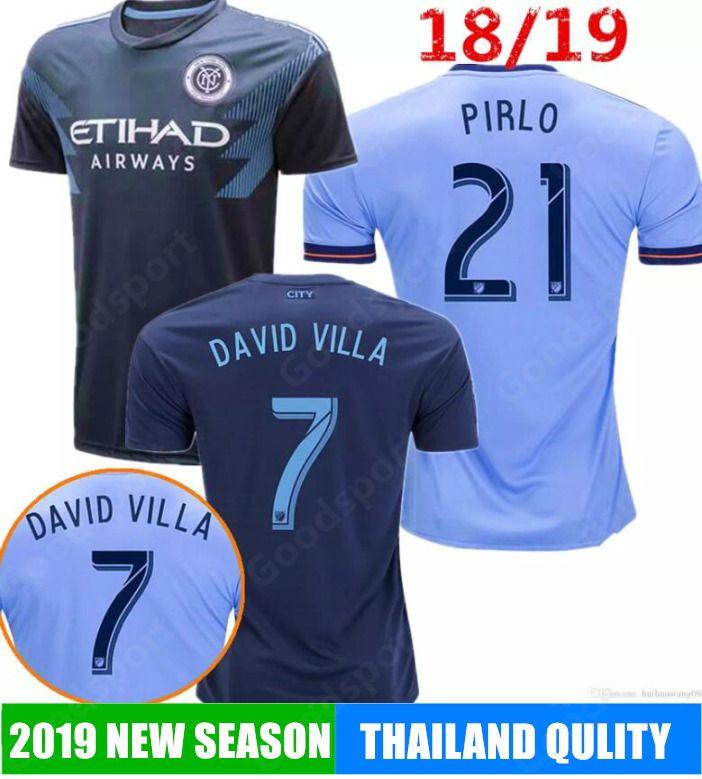 2019 New York City FC Soccer Jerseys DAVID VILLA LAMPARD 10 MORALEZ  MATARRITA 21 PIRLO 18 19 Home Blue Customize Football Shirt
