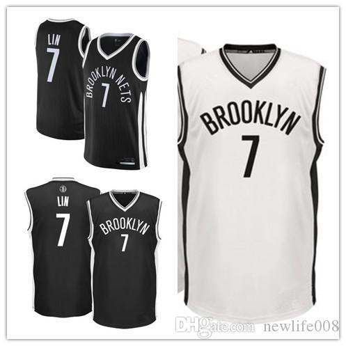 outlet store fe117 0caa5 custom 2019 Men's Nets 7 Jeremy Lin Fanatics Branded Black Fast Break  Replica Brooklyn women kids Jersey